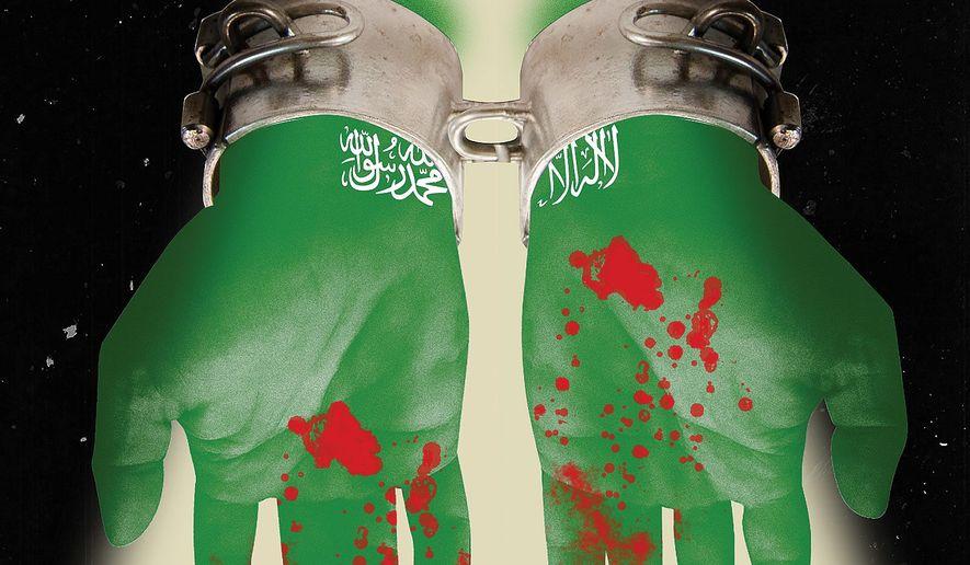 Illustration on U.S. reaction to Saudi culpability in the Khashoggi murder by Alexander Hunter/The Washington Times