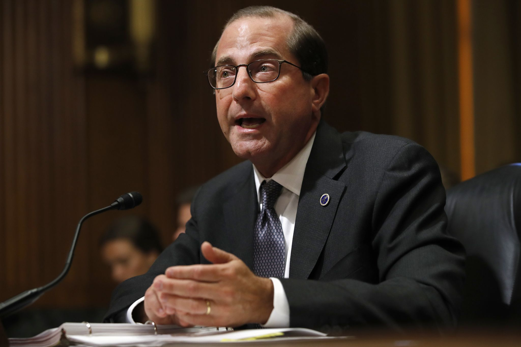 HHS Secretary Alex Azar: Pace of overdose deaths from opioids starting to 'plateau'