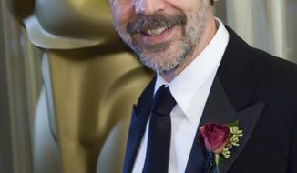FILE - In this Feb. 7, 2009 file photo, award recipient, President of Walt Disney Animation Studios and Pixar Animation Studios Ed Catmull arrives at the 81st Annual Academy of Motion Picture Arts and Sciences' Scientific and Technical Awards, in Beverly Hills, Calif. Catmull, the president of Walt Disney and Pixar Animation Studios since 2006, is retiring next year. The Walt Disney Company says Tuesday, Oct. 23, 2018, that the 73-year-old Pixar co-founder will remain in an advisory role through July 2019. (AP Photo/Gus Ruelas, File)
