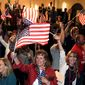 A poll says that 75 percent of U.S. overall say that conversatives are motivated to turn out and vote in the midterm elections on Nov. 6. (Associated Press)