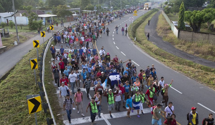 Who are the organizers of the migrant march through Mexico? Reporters never asked. (Associated Press/File)