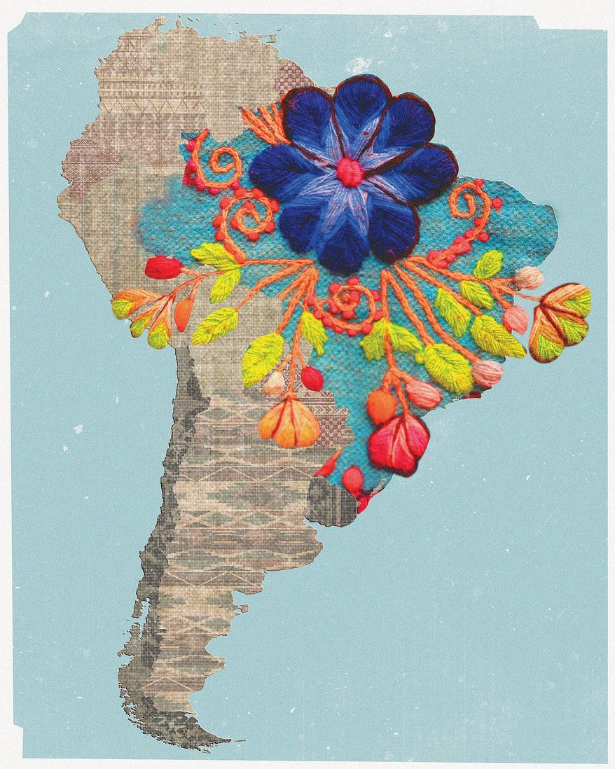 Illustration on great developments in South America by Linas Garsys/The Washington Times