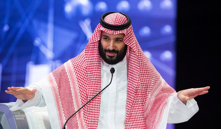 In this photo released by Saudi Press Agency, SPA, Saudi Crown Prince, Mohammed bin Salman addresses the Future Investment Initiative conference, in Riyadh, Saudi Arabia, Wednesday, Oct. 24, 2018. The crown prince addressed the summit on Wednesday, his first such comments since the killing earlier this month of Washington Post columnist Jamal Khashoggi at the Saudi Consulate in Istanbul. (Saudi Press Agency via AP)