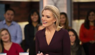 """This Oct. 22, 2018, photo released by NBC shows Megyn Kelly on the set of her show """"Megyn Kelly Today,"""" in New York. NBC announced on Friday, Oct. 26, that """"Megyn Kelly Today"""" will not return. (Nathan Congleton/NBC via AP)"""