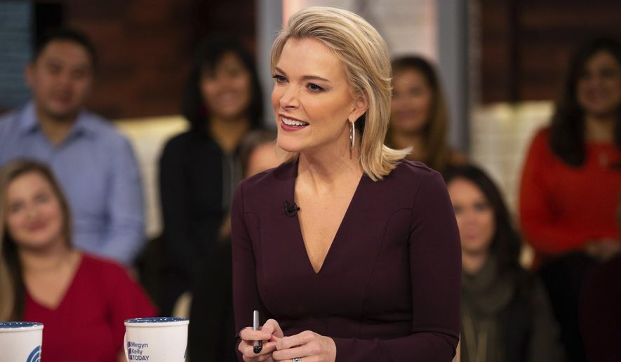 "This Oct. 22, 2018 photo released by NBC shows Megyn Kelly on the set of her show ""Megyn Kelly Today,"" in New York. NBC announced on Friday, Oct. 26, that ""Megyn Kelly Today"" will not return.  (Nathan Congleton/NBC via AP)"