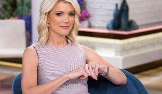 """FILE - In this Sept. 21, 2017 file photo, Megyn Kelly poses on the set of her new show, """"Megyn Kelly Today"""" at NBC Studios in New York. NBC announced on Friday, Oct. 26, 2018 that """"Megyn Kelly Today"""" will not return.  (Photo by Charles Sykes/Invision/AP, File)"""