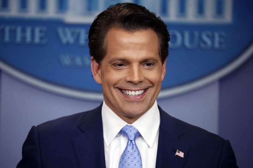 In this July, 21, 2017, file photo, then-White House Communications Director Anthony Scaramucci speaks to members of the media in the Brady Press Briefing room of the White House in Washington. (AP Photo/Pablo Martinez Monsivais, File)