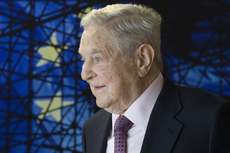 In this Thursday, April 27, 2017, file photo, George Soros, founder and chairman of the Open Society Foundation, waits for the start of a meeting at EU headquarters in Brussels. (Olivier Hoslet/Pool Photo via AP) ** FILE **