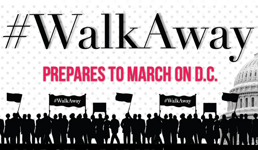 "In a video published online in May, Brandon Straka advised disenchanted or disappointed Democrats and liberals should simply ""walk away"" from the Democratic Party. His quest has now hit the public radar. (Brandon Straka/Walkawaymarch.com)"
