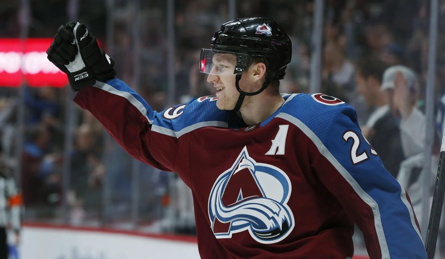 the latest ad00a afb8a Points of honor: Avalanche boast top line in hockey ...