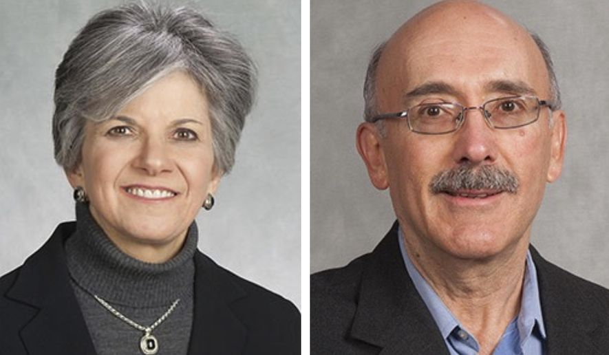 These undated photos released by the Peoria County Sheriff's Office show Susan Brill de Ramirez, left, and Antonio Ramirez Barron. A central Illinois sheriff says a search is underway for Brill de Ramirez, a Bradley University professor, and her husband who are missing after a possible violent struggle in their home. (Peoria County Sheriff's Office via AP)