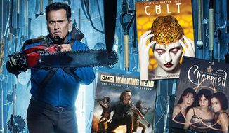 """Best Blu-ray and DVD Halloween TV includes  """"Ash vs Evil Dead: The Complete Third Season,"""" """"Charmed: The Complete First Season,"""" """"The Walking Dead: The Complete Eighth Season,"""" and """"American Horror Story: Cult."""""""