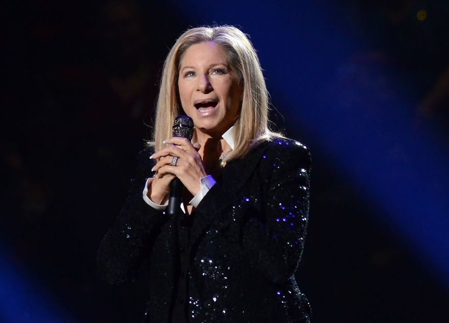 In this Oct. 11, 2012, file photo, singer Barbra Streisand performs at the Barclays Center in the Brooklyn borough of New York. (Photo by Evan Agostini/Invision/AP, File)