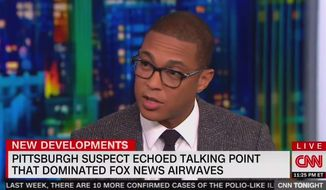 CNN's Don Lemon talks about political rhetoric in the U.S. with guests, Oct. 30, 2018. (Image: CNN screenshot)