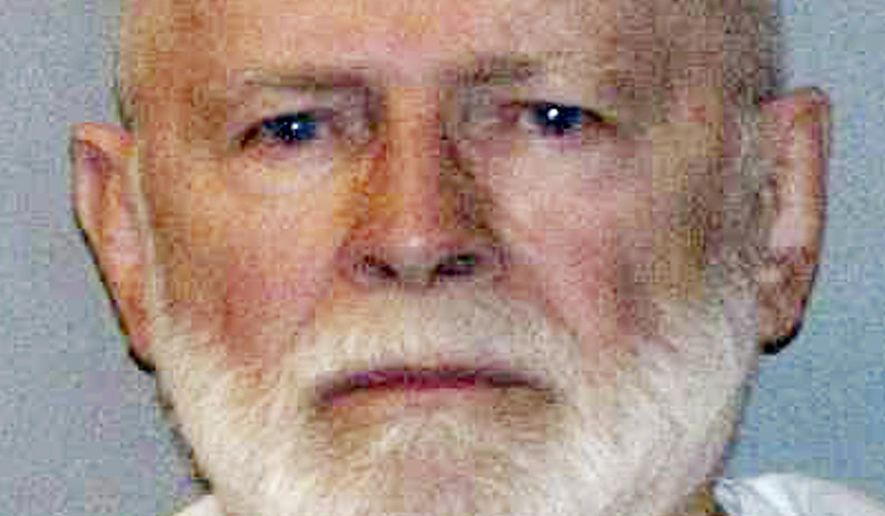 """This June 23, 2011, file booking photo provided by the U.S. Marshals Service shows James """"Whitey"""" Bulger. Bulger died in federal custody after being sentenced to spend the rest of his life in prison. Officials with the Federal Bureau of Prisons say he died Tuesday, Oct. 30, 2018. (U.S. Marshals Service via AP, File)"""