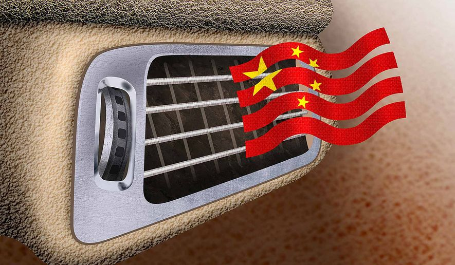Illustration on a deal with China over coolant by Greg Groesch/The Washington Times