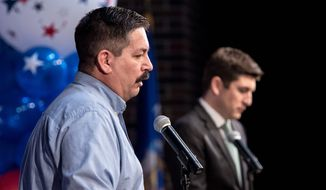 First District Congressional candidate Randy Bryce has fundraised $7.9 million in his campaign, according to the last report. (Associated Press)