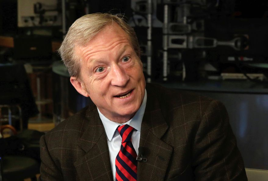 San Francisco billionaire Tom Steyer's NextGen America sunk $22 million into the Arizona's Proposition 127, which would have raised the renewable-energy standard from 15 percent by 2025 to 50 percent by 2030. Proposition 127 lost resoundingly, with only 30 percent of voters in support and 70 percent against. (Associated Press)