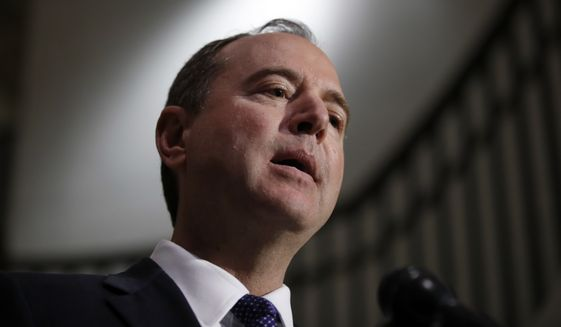 Rep. Adam B. Schiff, a California Democrat who has promised a wide investigation of President Trump as chairman of the House Permanent Select Committee on Intelligence, issued a memo last year on the FBI's early-on investigation into Donald Trump's campaign. (Associated Press/File)
