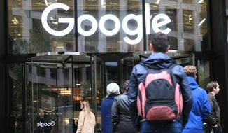 The Google offices in Granary Sqaure, London, Thursday Nov. 1, 2018. Hundreds of Google engineers and other workers walked off the job Thursday morning to protest the internet companys lenient treatment of executives accused of sexual misconduct. Employees were seen staging walkouts at offices in Tokyo, Singapore, London, and Dublin. (Stefan Rousseau/PA via AP)