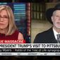 "Rabbi Jeffrey Myers of the Pittsburgh synagogue targeted in an anti-Semitic attack that left 11 people dead told CNN Thursday morning that he was ""pleasantly surprised"" by President Trump's visit Tuesday and that he was able to witness the ""warm and personal side"" of the president that the rest of America often misses out on. (CNN)"