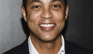 FILE - In this April 12, 2018 file photo, CNN news anchor Don Lemon attends The Hollywood Reporter's annual 35 Most Powerful People in Media event in New York. CNN isn't commenting about Don Lemon's statement that white men represent the biggest terrorist threat in the country.Lemon's statement, on his show Monday, attracted criticism in conservative circles. He was talking about the negative attention given to a caravan of potential refugees in central America. (Photo by Evan Agostini/Invision/AP, File)