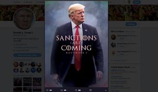 "President Trump's tweet invoking ""Game of Thrones"" (screenshot)"
