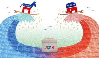 Election Waves Illustration by Greg Groesch/The Washington Times
