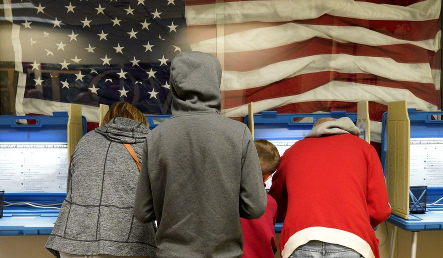 Residents vote early at the Douglas County Election Commission office in Omaha, Neb., Friday, Nov. 2, 2018. (AP Photo/Nati Harnik)