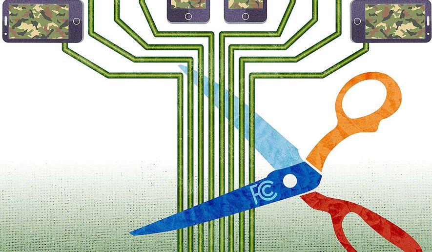 Cutting Off Veterans' Phone Program Illustration by Greg Groesch/The Washington Times