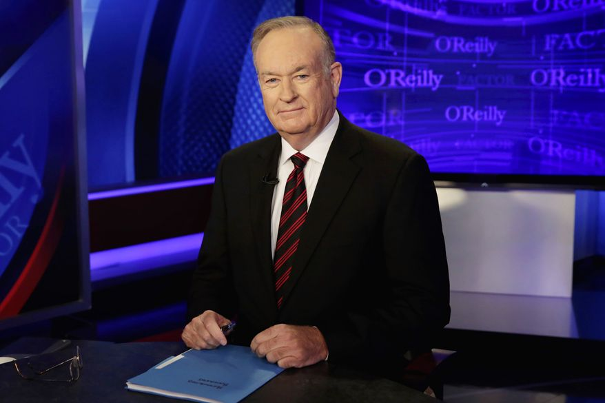 """Host Bill O'Reilly of """"The O'Reilly Factor"""" program, on the Fox News Channel, poses for photos, in New York, Thursday, Oct. 1, 2015. (AP Photo/Richard Drew)"""