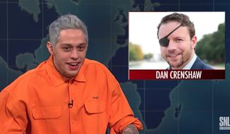 "NBC News reporter Tom Winter on Monday criticized NBC for airing Pete Davidson's joke on ""Saturday Night Live"" mocking a wounded veteran. (NBC)"