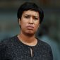 District of Columbia Mayor Muriel Bowser pauses during a news conference at One Judiciary Square in Washington, Thursday, Oct. 5, 2017. (AP Photo/Carolyn Kaster) ** FILE **