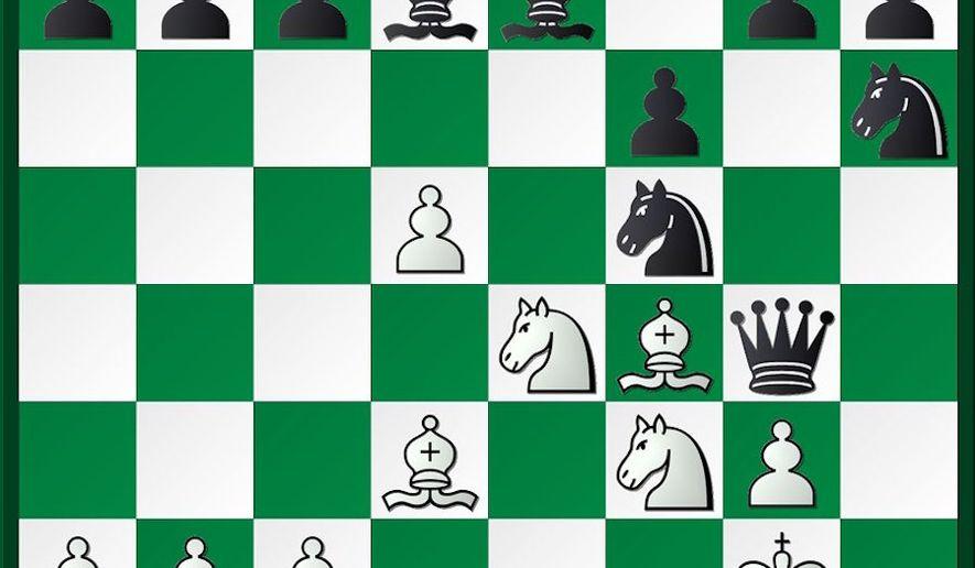 Steinitz-Zukertort after 15...Ngh6.