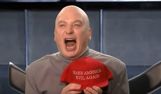 """Comedian Mike Myers reprises his """"Dr. Evil"""" role for a midterms election skit on NBC's """"The Tonight Show,"""" Nov. 5. 2018. (Image: YouTube, """"The Tonight Show"""" video screenshot)"""