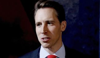 Sen. Josh Hawley, Missouri Republican, is calling for a broad consideration of the effect social media is having on our society. (Associated Press/File)