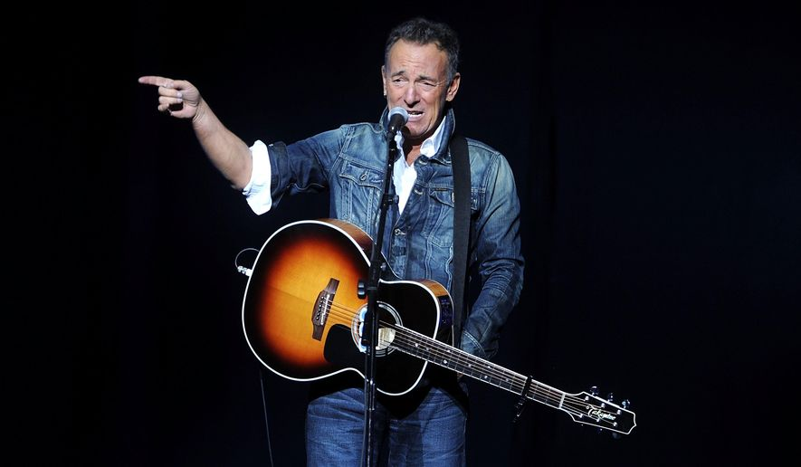 Bruce Springsteen performs at the 12th annual Stand Up For Heroes benefit concert at the Hulu Theater at Madison Square Garden on Monday, Nov. 5, 2018, in New York. (Photo by Brad Barket/Invision/AP)