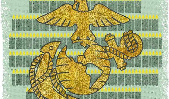 Marine Corps Birthday Illustration by Greg Groesch/The Washington Times