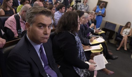 """Jim Acosta is """"senior White House correspondent"""" for CNN, but the manner in which he executes his duties betrays that label. (Associated Press/File)"""