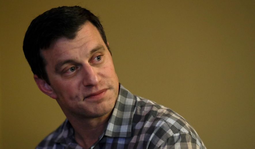 Los Angeles Dodgers president of baseball operations Andrew Friedman speaks to reporters during the Major League Baseball General Manager Meetings Wednesday, Nov. 7, 2018, in Carlsbad, Calif. (AP Photo/Gregory Bull)