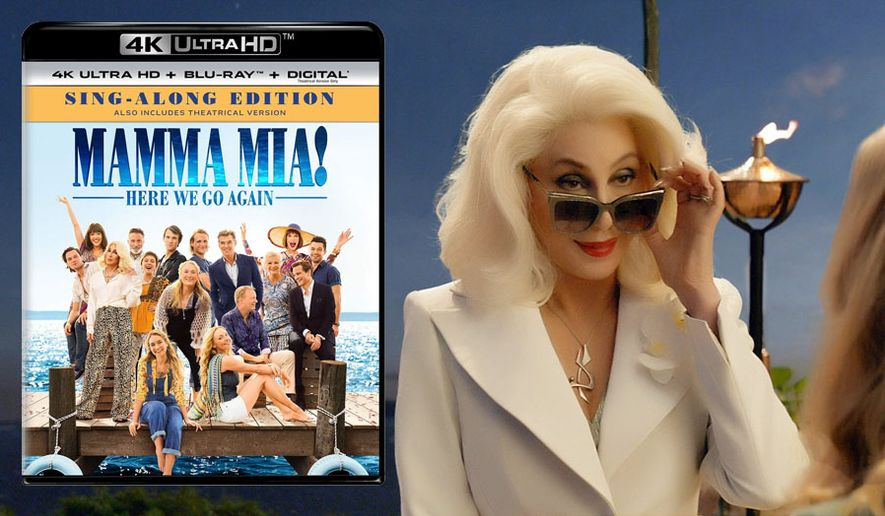 """Cher makes an appearance in """"Mamma Mia! Here We Go Again: Sing Along Edition,"""" now available on 4K Ultra HD from Universal Studios Home Entertainment."""