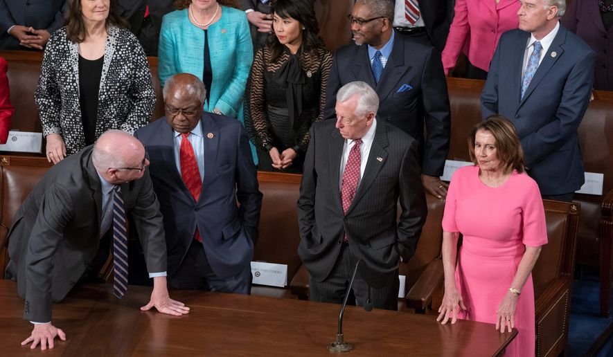 Nobody has stepped forward to challenge Rep. Nancy Pelosi (right) for speaker in the new Congress, nor are there any challengers for Rep. Steny H. Hoyer, (second from right) who's in line to become the majority leader. But Rep. James Clyburn, (second from left) who's running for whip, has been challenged by Rep. Diana DeGette. (ASSOCIATED PRESS PHOTOGRAPHS)
