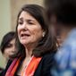 In this Jan. 5, 2017, file photo, Rep. Diana DeGette, D-Colo., speaks during a news conference discussing women's health care on Capitol Hill in Washington. (AP Photo/Zach Gibson) ** FILE **