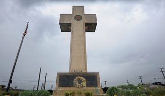 The Peace Cross is a memorial in Bladensburg, Maryland, which lost scores of residents in World War I. (ASSOCIATED PRESS)