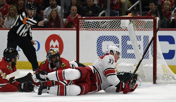 d9113dc5d Canes hold on to beat Blackhawks 4-3