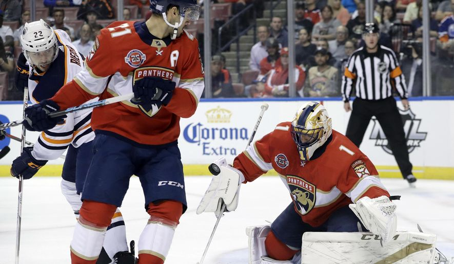 Luongo Makes 26 Saves As Panthers Beat Oilers 4 1 Washington Times