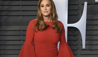 "FILE - In this March 4, 2018 file photo, Caitlyn Jenner arrives at the Vanity Fair Oscar Party in Beverly Hills, Calif. A fast-moving wildfire in Southern California has scorched a historic movie site recently used by the HBO series ""Westworld"" and forced numerous celebrities to join the thousands fleeing flames that have claimed homes and prompted the total evacuation of the celebrity enclave Malibu. Kim Kardashian West, Scott Baio, Rainn Wilson and Guillermo del Toro are among numerous celebrities forced to evacuate their homes, in some cases hurriedly trying to arrange transport for their horses. Some, like del Toro and Caitlyn Jenner, did not know the fate of their homes. (Photo by Evan Agostini/Invision/AP, File)"