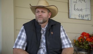 In this Oct. 24, 2018, file photo, Ammon Bundy poses for a photo in Emmett, Idaho. (Kelsey Grey/Idaho Statesman via AP) ** FILE **