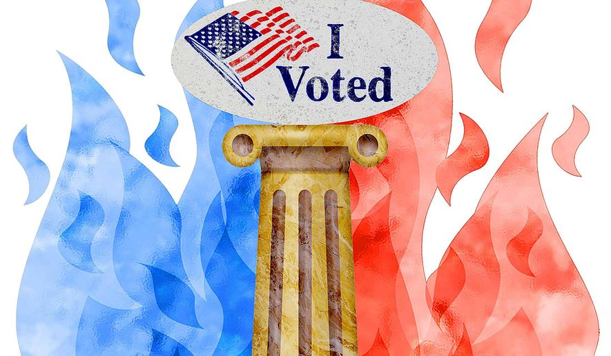 Middle Voters Prevail Illustration by Greg Groesch/The Washington Times