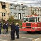Truck 17 responds to a fire on the 700 block of 51st Street on Nov. 6. After the fire, a firefighter was thrown from the truck and broke his leg when the truck's faulty ladder suddenly moved during a training exercise, three sources said. (D.C. Fire and EMS Department)